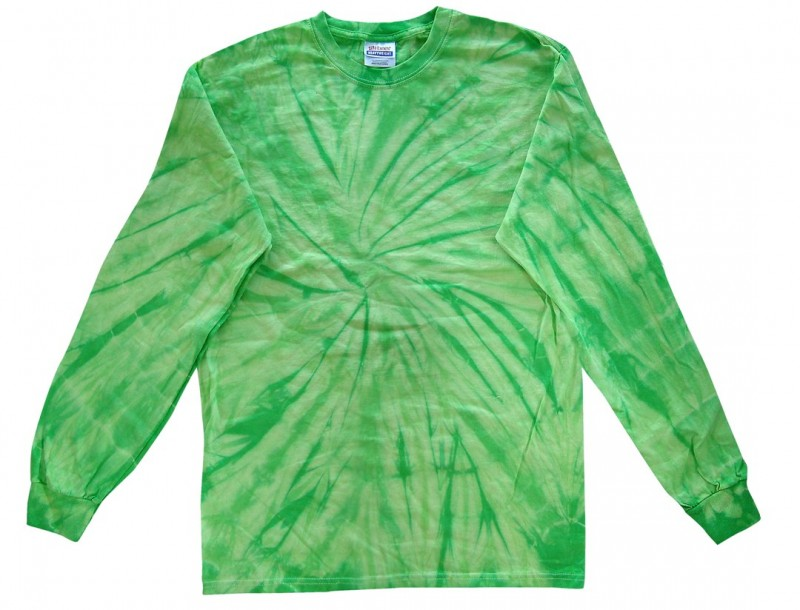 90788a0ba2f Lime Spider Tie Dye Long Sleeve T-Shirt. Sale! 🔍. Long Sleeve Lime Spider