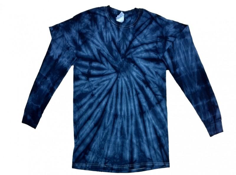 2f55f618b3cc0e Navy Spider Tie Dye Long Sleeve T-Shirt