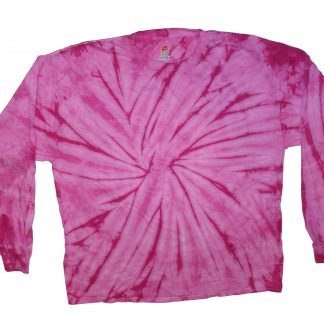 Long Sleeve Tie Dye Pink