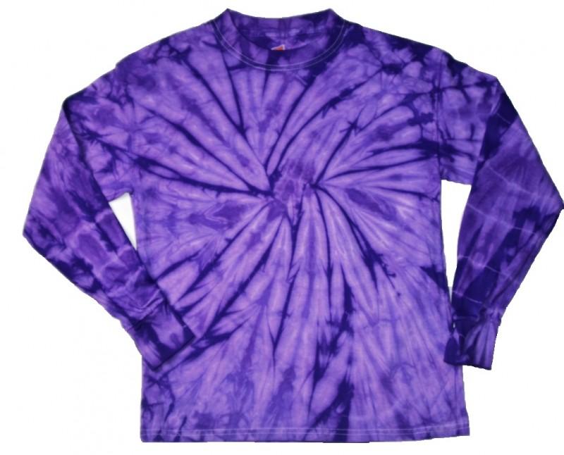 Purple Spider Tie Dye Long Sleeve T Shirt Tie Dye Space