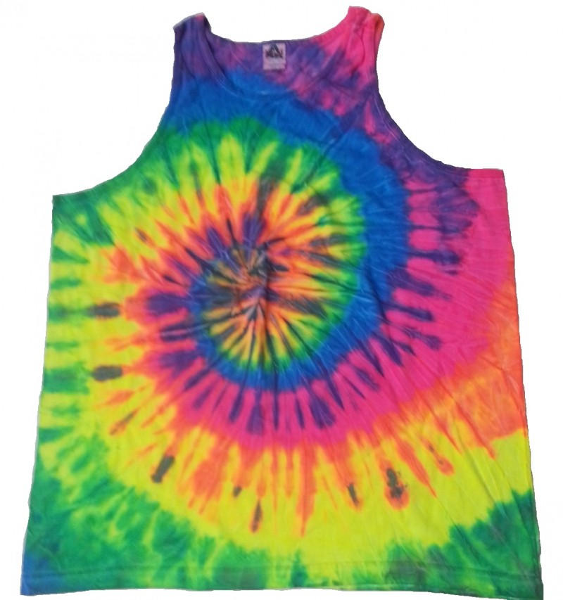 rainbow tie dye tank top tie dye space