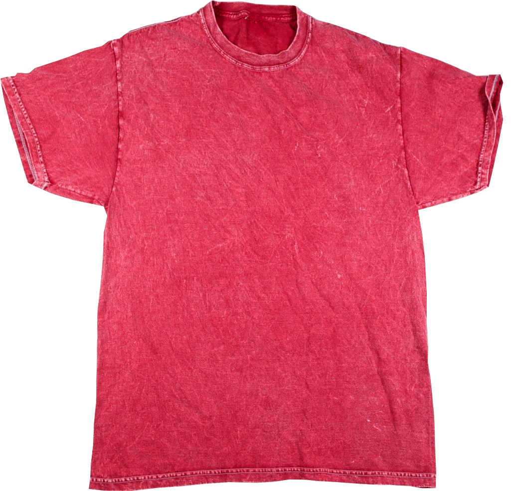Red Vintage Mineral Wash T Shirt Tie Dye Space