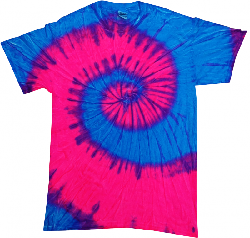 Best Flo Blue and Pink Tie Dye T-Shirt – Tie Dye Space AQ47