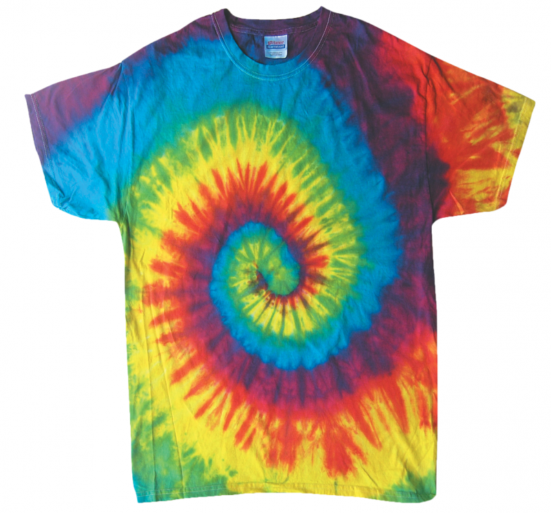 Reactive rainbow tie dye t shirt tie dye space for How to make tie dye shirts at home