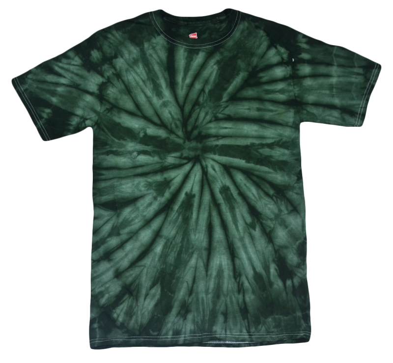 dark green spider tie dye t shirt tie dye space