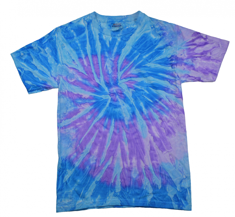 Blue And Lavender Spiral Tie Dye T Shirt Tie Dye Space