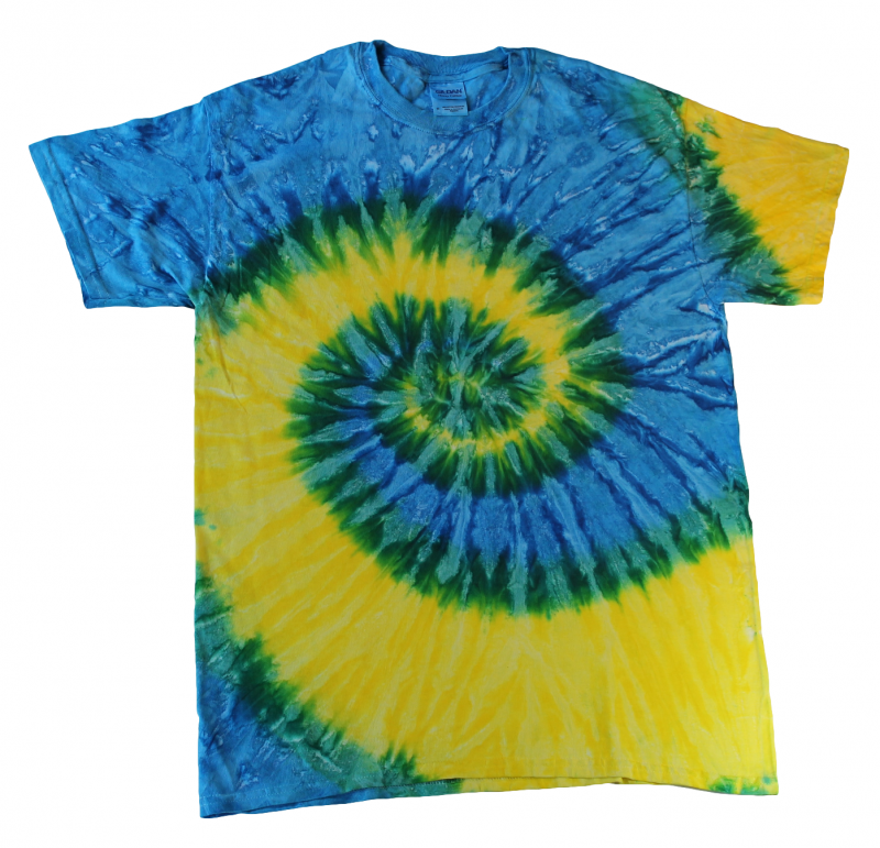 Blue And Yellow Tie Dye T Shirt Tie Dye Space