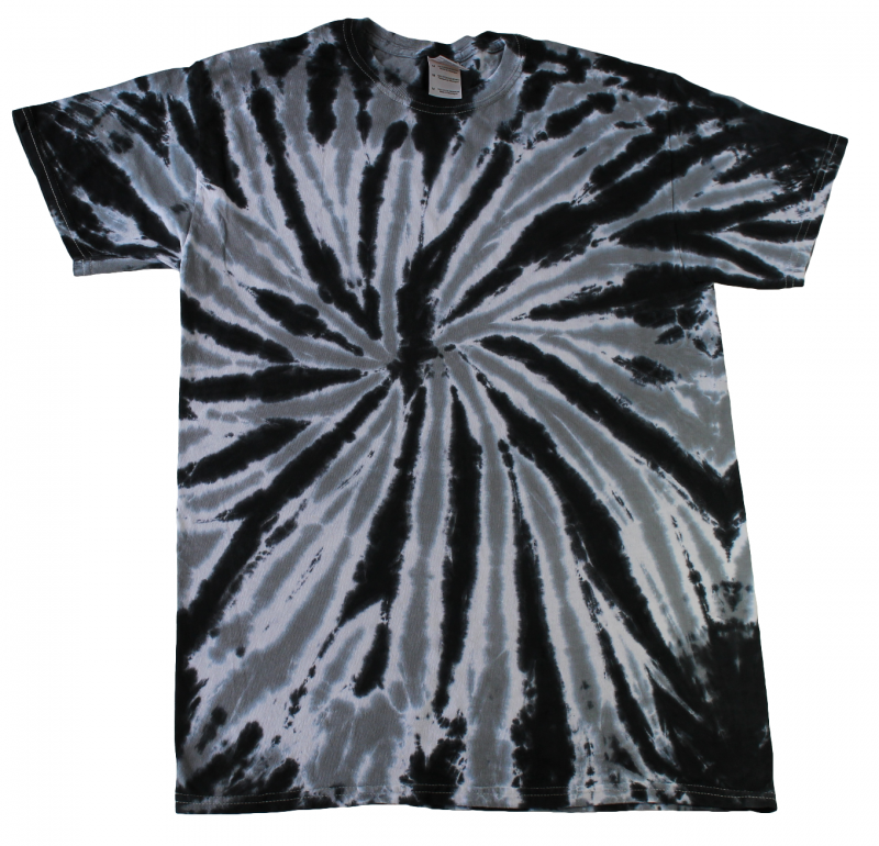 Twist Black Tie Dye T Shirt Tie Dye Space