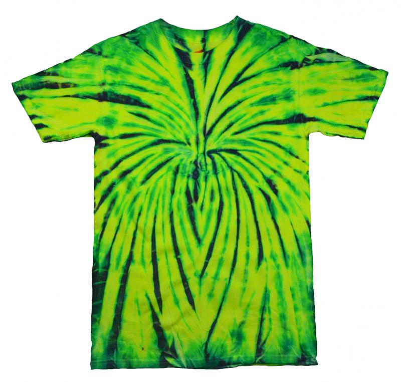 f24c45ebd65 Wild Spider Black Green Yellow Tie Dye T-Shirt