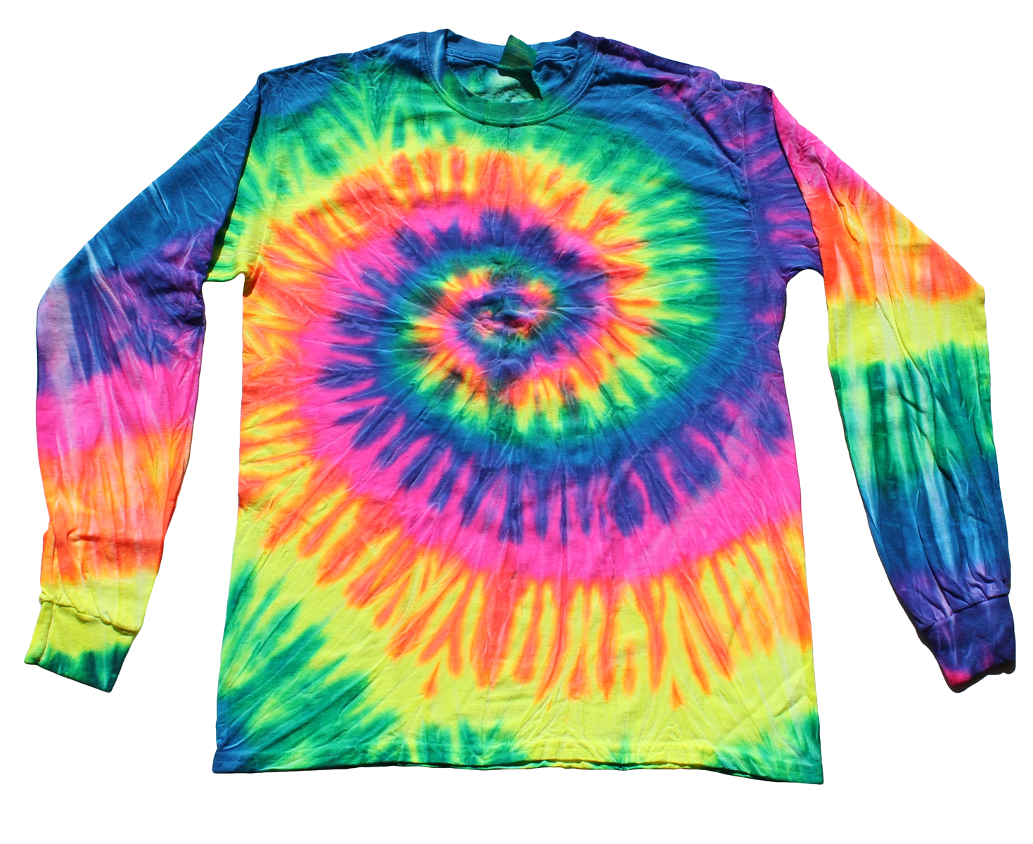 Neon Rainbow Tie Dye Long Sleeve T-Shirt – Tie Dye Space